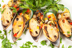 Edible mussels Royalty Free Stock Photography