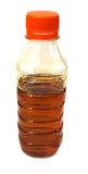 Edible mustard oil in plastic bottle Royalty Free Stock Image