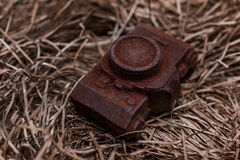Edible noname nobrand chocolate camera present for photographer Royalty Free Stock Photography