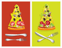 Edible still-life. Pizza Royalty Free Stock Photography