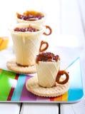 Edible teacup cookies Stock Photos