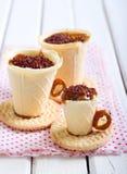 Edible teacup cookies Royalty Free Stock Photos