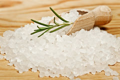 Edible white sea salt royalty free stock images