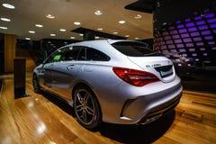 Edición ejecutiva del pico del CLA 220d de la CLA-clase de Mercedes-Benz del coche del Subcompact imagen de archivo