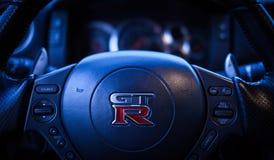 Edición negra GTR de Nissan imágenes de archivo libres de regalías