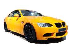 Edición amarilla del tigre del Bmw m3 del coche Imágenes de archivo libres de regalías