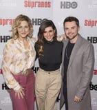 Edie FALCO, Jamie-Lynn Sigler, και Robert Iler στοκ φωτογραφία