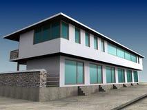 Edifício 3D do negócio Imagens de Stock Royalty Free