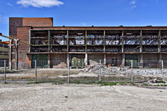Edifício abandonado da fábrica foto de stock royalty free