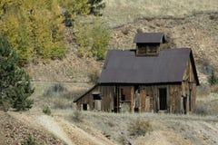 Edifício abandonado da mina imagens de stock