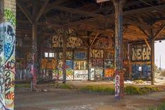 Edifício abandonado do armazém Fotografia de Stock Royalty Free