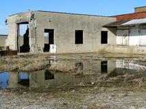 Edifício abandonado velho imagens de stock royalty free