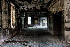 Edifício abandonado velho foto de stock