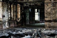 Edifício abandonado velho imagens de stock