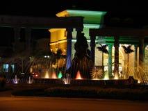 Edifício agradável na noite imagem de stock