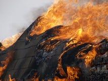 Edifício ardente Fotografia de Stock