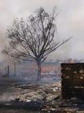 Edifício ardente Fotos de Stock