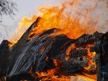 Edifício ardente Imagens de Stock Royalty Free