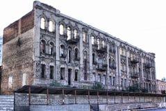 Edifício arruinado velho fotos de stock royalty free