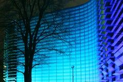 Edifício azul Fotografia de Stock Royalty Free