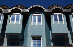 Edifício azul foto de stock royalty free