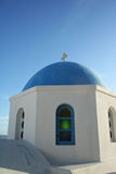 Edifício azul e branco tradicional em Santorini mim Fotografia de Stock