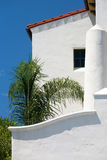 Edifício branco do estuque. Foto de Stock Royalty Free