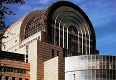 Edifício Bruxelas Bélgica Europa do parlamento do Eu Fotos de Stock Royalty Free