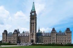 Edifício canadense do parlamento em Ottawa imagens de stock
