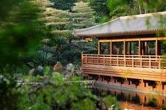 Edifício chinês no jardim Foto de Stock