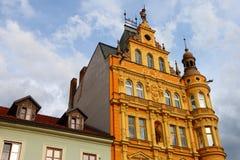 Edifício clássico, Ceske Budejovice, 2011 Imagens de Stock