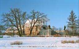 Edifício clássico da galeria no inverno Fotografia de Stock Royalty Free