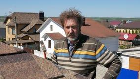Edifício Colocando um telhado macio filme