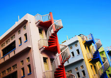 Edifício colorido Fotos de Stock Royalty Free