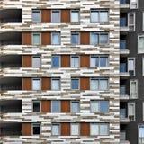 Edifício com balcões Imagem de Stock Royalty Free
