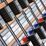 Edifício com balcões Foto de Stock