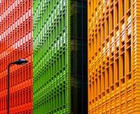 Edifício com luz de rua Fotografia de Stock Royalty Free
