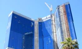 Edifício comercial sob a construção Fotografia de Stock Royalty Free