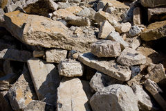 Edifício concreto demulido Foto de Stock Royalty Free