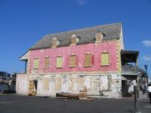 Edifício cor-de-rosa velho de Nassau Bahamas Fotos de Stock Royalty Free