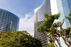 Edifício curvado moderno Fotografia de Stock