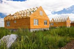 Edifício da casa de madeira Imagens de Stock