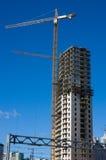 Edifício da casa do arranha-céus Fotos de Stock