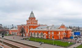 Edifício da estação de comboio de Chernihiv fotografia de stock royalty free