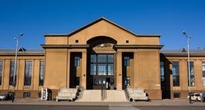 Edifício da estação de comboio de Daugavpils imagens de stock royalty free