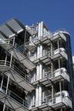 Edifício da estrutura do metal fotografia de stock