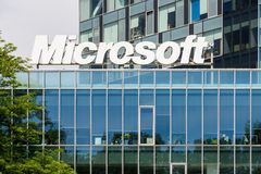 Edifício da Microsoft Corporation Fotos de Stock Royalty Free