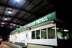 Edifício da patrulha fronteiriça dos E.U. Fotos de Stock