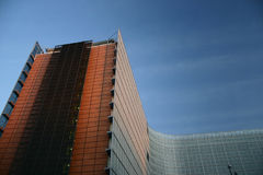 Edifício da UE Foto de Stock Royalty Free