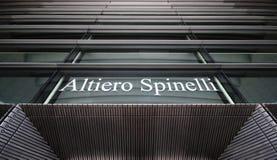 Edifício de Altiero Spinelli - Parlamento Europeu Foto de Stock Royalty Free